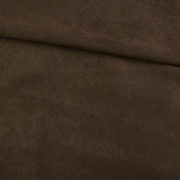 Замша искусственная коричневая темная, ш.150 оптом