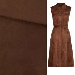 Замша искусственная коричневая, ш.150