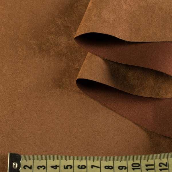 Замша штучна коричнева світла, ш.150 оптом