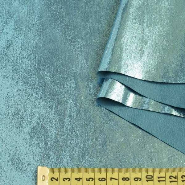 Замша искусственная с лазерным напылением бирюзовая, ш.140 оптом
