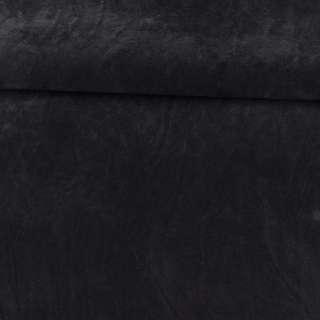 Замша флок двухсторонняя черная, ш.150 оптом