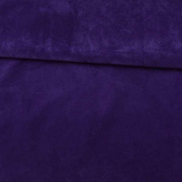 Замша флок мягкая синяя, ш.145 оптом