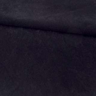 Замша флок м'яка чорна, ш.155 оптом