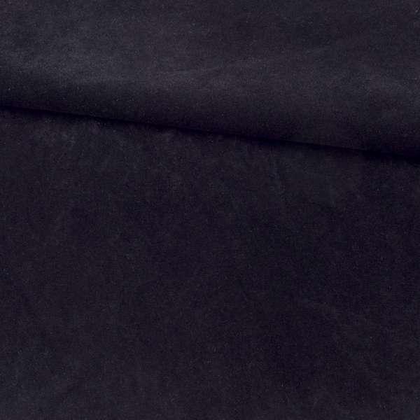 Замша флок мягкая черная, ш.155 оптом