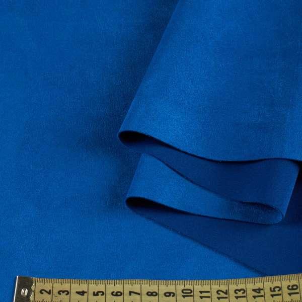 Замша на дайвинге синяя, ш.155 оптом