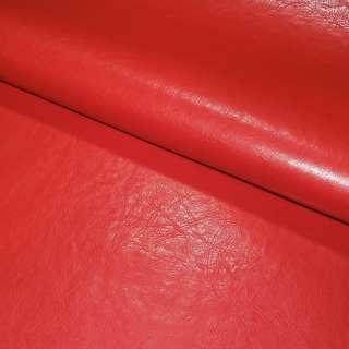 Шкіра штучна червона на флісі ш.140 оптом