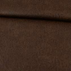 Кожа искусственная на флисе коричневая оптом