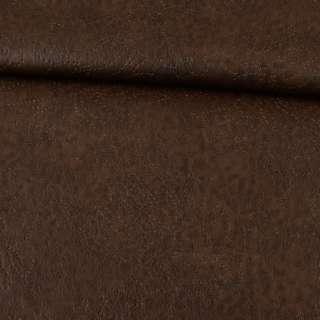 Шкіра штучна на флісі коричнева оптом