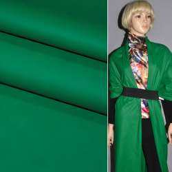 Кожа искусственная матовая зеленая на трикотажной основе ш.140 оптом