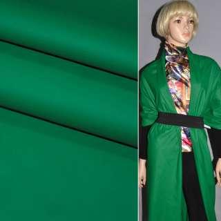 Шкіра штучна матова зелена на трикотажній основі ш.140 оптом