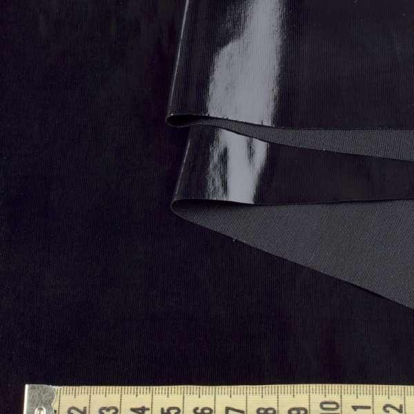 кожа лаке мягкая тонкая черная, ш.140 оптом