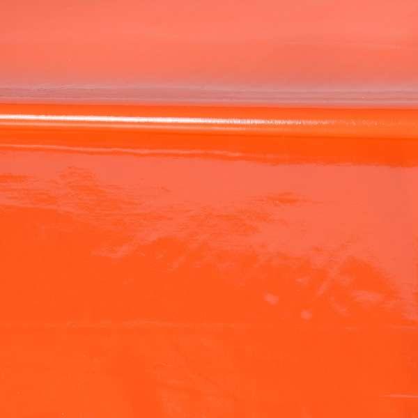 кожа лаке мягкая тонкая оранжевая, ш.140 оптом
