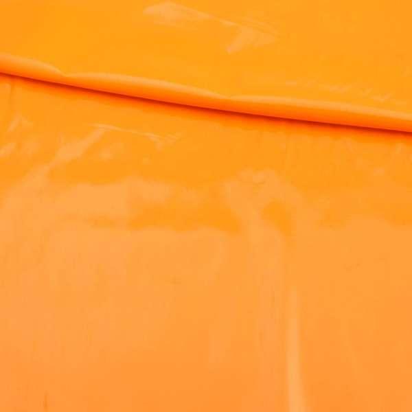 Кожа лаке мягкая тонкая желто-оранжевая, ш.140 оптом