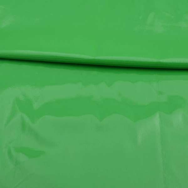Кожа лаке мягкая тонкая салатовая, ш.140 оптом
