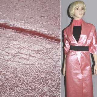 Кожа искусственная розовая матовая на х/б основе, ш.150 оптом