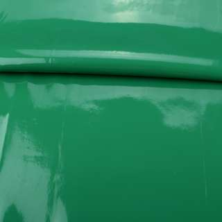 кожа искуст. лак. зеленая на флисе ш.140 оптом