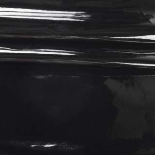 Шкіра штучна лаке на флісі чорна ш.140 оптом