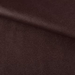 Кожа искусственная на флисе коричневая ш.140 оптом