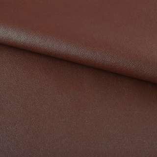 Кожа искусственная на флисе коричнево-красная ш.140 оптом