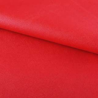 Кожа искусственная на флисе красная ш.145 оптом