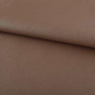 Кожа искусственная на флисе молочно-шоколадная ш.140 оптом