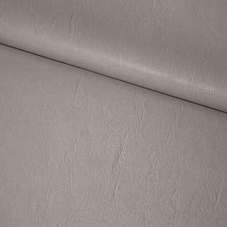Кожа искусственная светло-серая на флисе ш.135 оптом