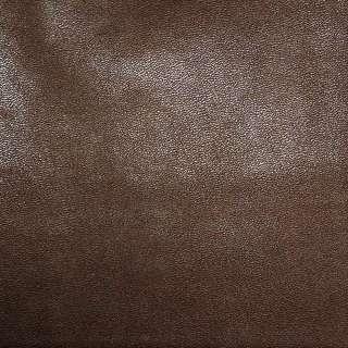 Кожа искусственная каштановая на флисе ш.140 оптом