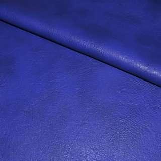 Кожа искусственная универсальная на флисе синяя-электрик ш.143 оптом