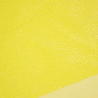 Шкіра штучна універсальна на флісі жовта ш.143 оптом