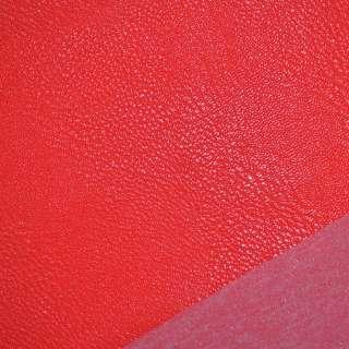 Шкіра штучна універсальна на флісі червона ш.140 оптом