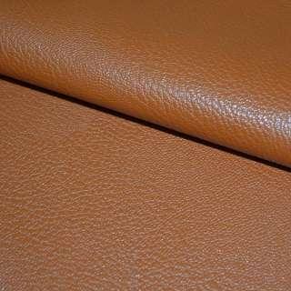 Шкіра штучна універсальна на флісі коричнево-руда ш.140 оптом