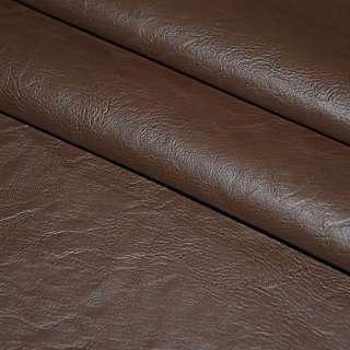 Шкіра штучна коричнева на флісі ш.140 оптом