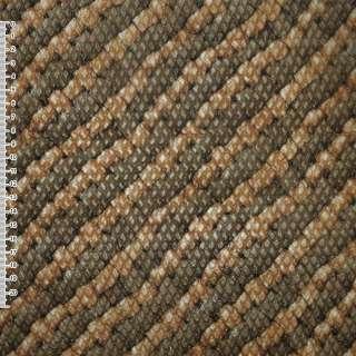 Шкіра штучна тисне коричнева в діагональні руді смуги ш.140 оптом