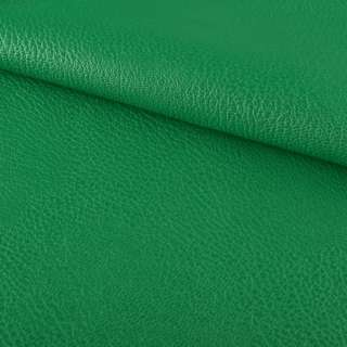 кожа искуст. на флисе блестящ. зеленая ш.144 оптом