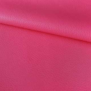Кожа искусственная на флисе блестящая розово-малиновая ш.150 оптом