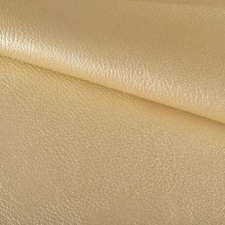 Шкіра штучна на флісі блискуча світло-золотиста ш.145 оптом