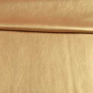 Кожа искусственная стрейч золотистая, ш.145 оптом