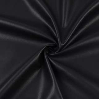 Шкіра штучна стрейч чорна ш.145 оптом