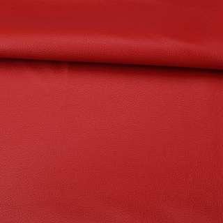 Кожа искусственная красная ш.145 оптом