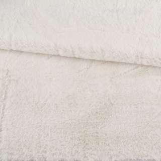 Мех искусственный кролик ворс 1см молочный ш.170 оптом