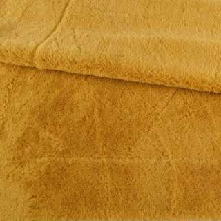 Мех искусственный кролик ворс 1см горчично-желтый ш.160 оптом