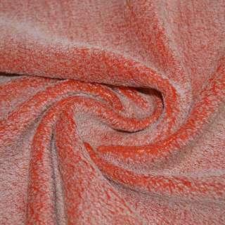 Мех искусственный оранжево-белый, ш.150 оптом