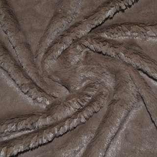 Мех искусственный темно-коричневый кролик оптом