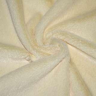 Мех искусственный коротковорсовый бледно-желтый, ш.150 оптом