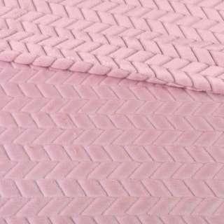 Мех искусственный косичка с просветами розовый ш.170 оптом