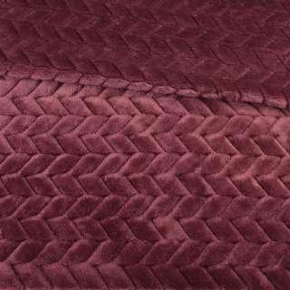 Мех искусственный косичка с просветами марсала ш.165 оптом