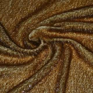 Мех искусственный коричнево-рыжий, ш.150 оптом