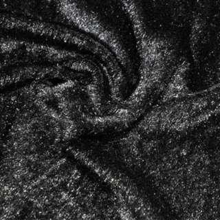 мех иск. черный однотонный, ш.150 оптом
