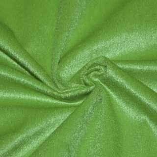 Мех искусственный коротковорсовый зеленый, ш.150 оптом