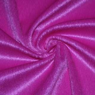 Мех искусственный коротковорсовый ярко-розовый, ш.150 оптом
